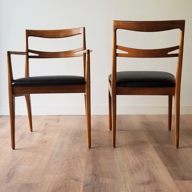 Mid-Century Modern 1953 Newly Upholstered Drexel Declaration Collection Dining Chairs - Set of 6 For Sale - Image 3 of 13