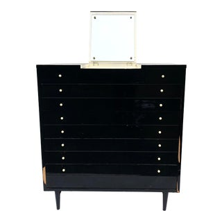 Mid-Century Modern Highboy Dresser W/ Vanity Top by American of Martinsville For Sale