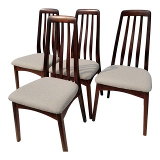 1900s Danish Modern Benny Linden Rosewood Dining Chairs - Set of 4 For Sale