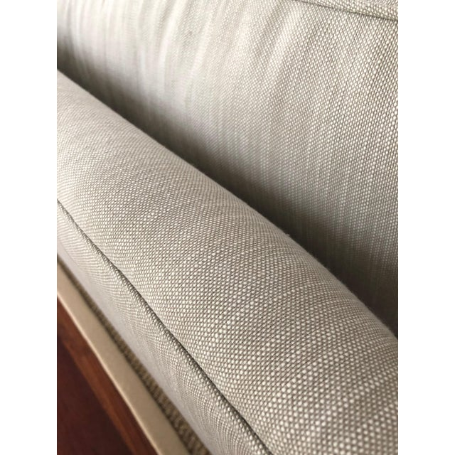 Modern Restoration Hardware Linen Upholstered Standard Sofa For Sale In Philadelphia - Image 6 of 8