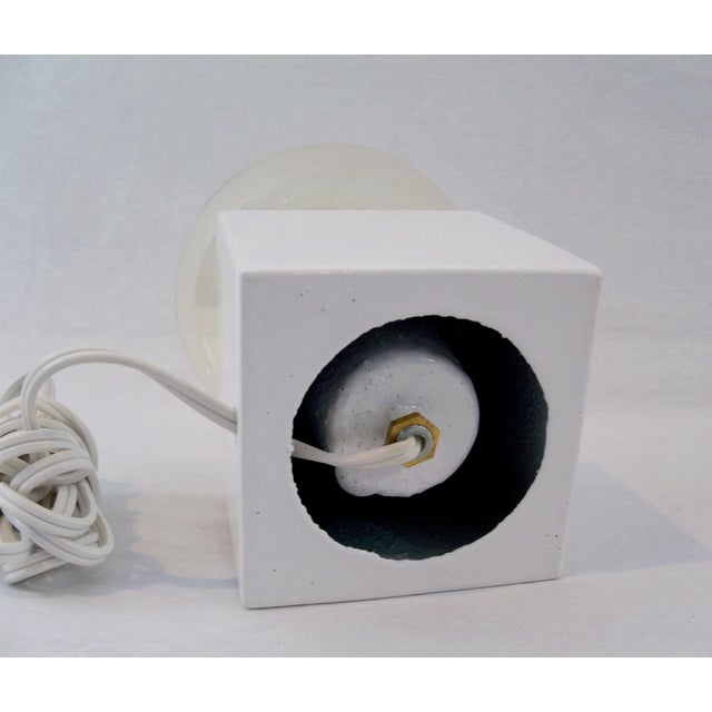 White Cube Table Lamp - Image 6 of 8