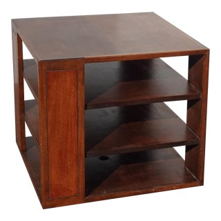 Vintage Mid Century Modern Solid Wood Three Tier Side End Table ~ French Country For Sale