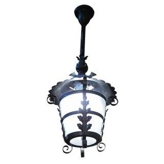 Black Leafy Iron Lantern For Sale