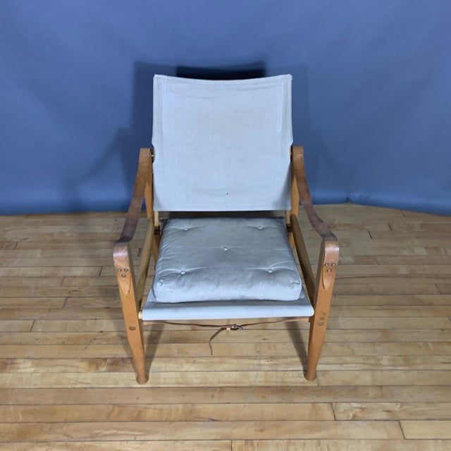 Danish Modern Kaare Klint Safari Chair, Rud Rasmussen, Denmark For Sale - Image 3 of 11