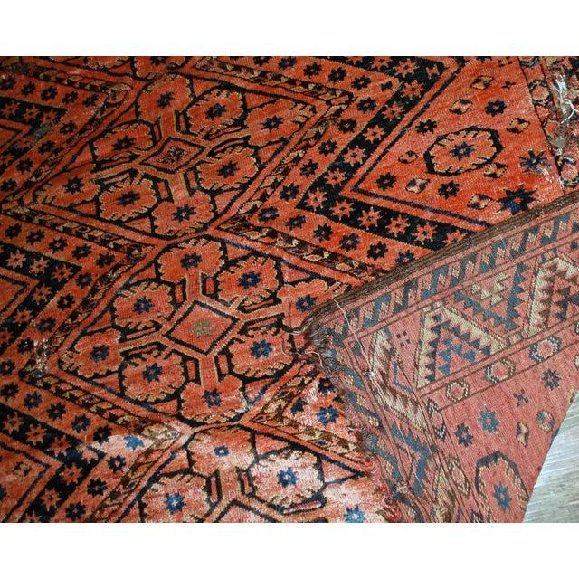 "1900s Antique Uzbek Beshir Rug- 5'7"" x 7'7"" - Image 4 of 7"