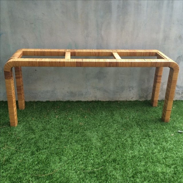 Rattan Console Table - Image 2 of 9