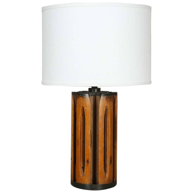 Shuttle Barrel Table Lamp For Sale In Los Angeles - Image 6 of 6