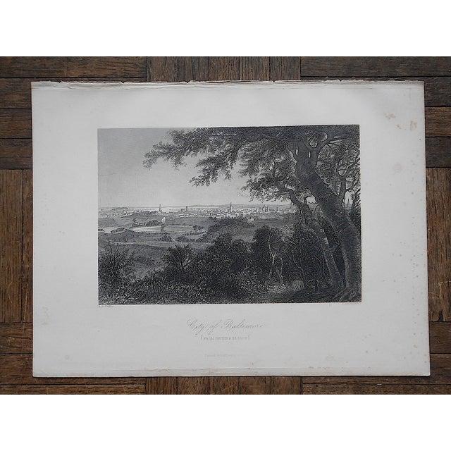 """Antique Engraving """"Baltimore"""" - Image 3 of 3"""