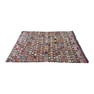 Vintage Turkish Aksaray Kilim Rug / Tapestry - 6′ × 8′1″ For Sale