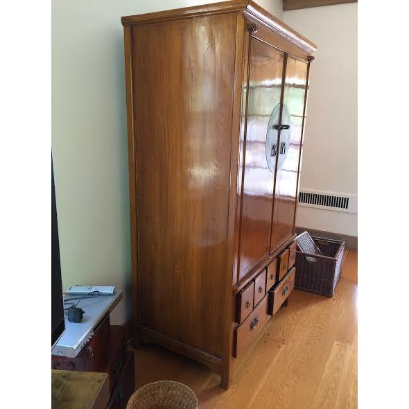 Chinese Medallion Cabinet/Armoire - Image 6 of 6