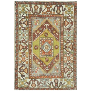 Surena Rugs Vintage Tribal Turkish Rug - 5′4″ × 8′ For Sale