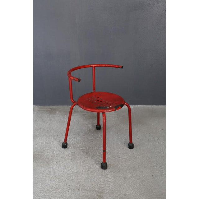 Ettore Sottsass Ettore Sottsass Outdoor Chairs Steel Armchair For Sale - Image 4 of 5