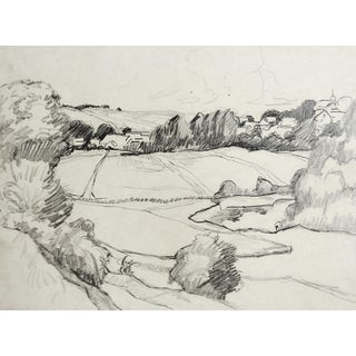 Landscape Pencil Study by George Baer