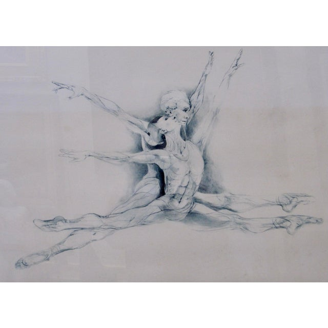 "Contemporary 1970s Vintage G. H. Rothe ""School of Flight"" Ballet Dancer Anatomical Mezzotint Print For Sale - Image 3 of 10"