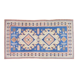 Vintage Anatolian Oushak Handmade Hand Knotted Rug With Natural Colors,5'x9' For Sale