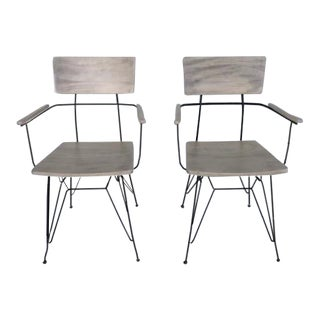 Mid Century Modern Arm Chairs- a Pair For Sale