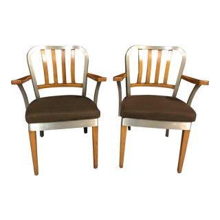1960s Vintage Shaw Walker Armchairs- A Pair For Sale