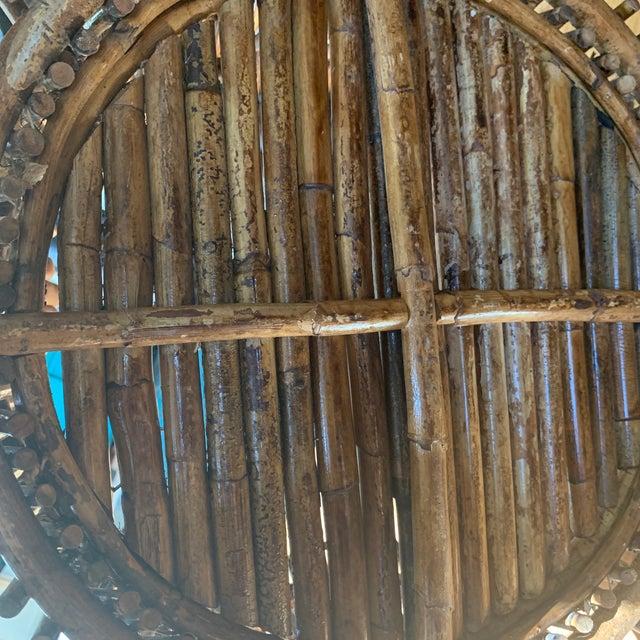 1960s Vintage Primitive Handmade Wooden Basket For Sale - Image 5 of 9