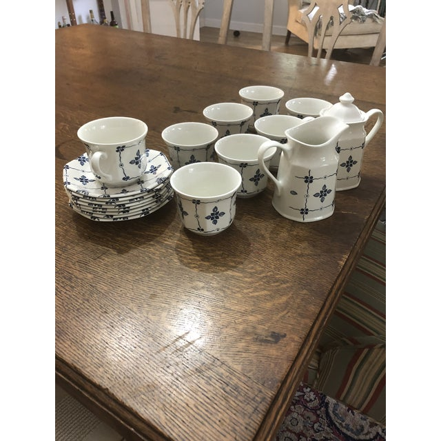 """White Royal Staffordshire """"Homespun"""" Ironstone by Meakin - 18 Pieces For Sale - Image 8 of 8"""