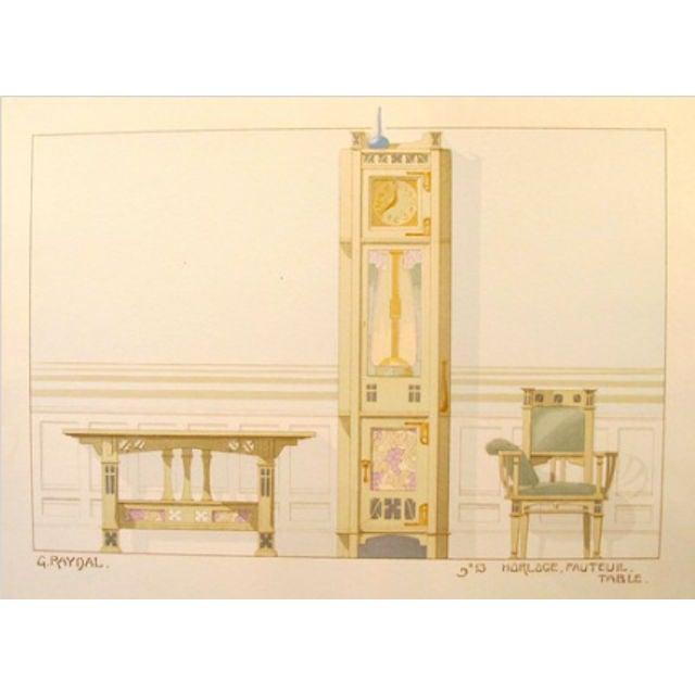 Vintage French Decorator Sheet Interior/Clock - Image 2 of 3
