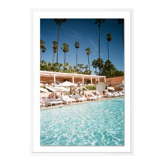 Beverly Hills by Natalie Obradovich in White Framed Paper, Medium Art Print For Sale