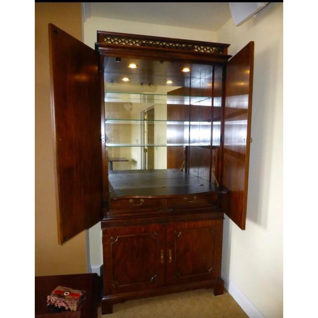Vintage Century Cherry Wood Bar Armoire Cabinet - Image 3 of 11