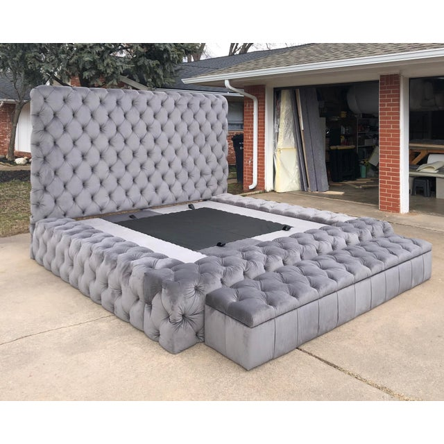 Tufted Platform King Bedframe Upholstered Storage Bench Chairish