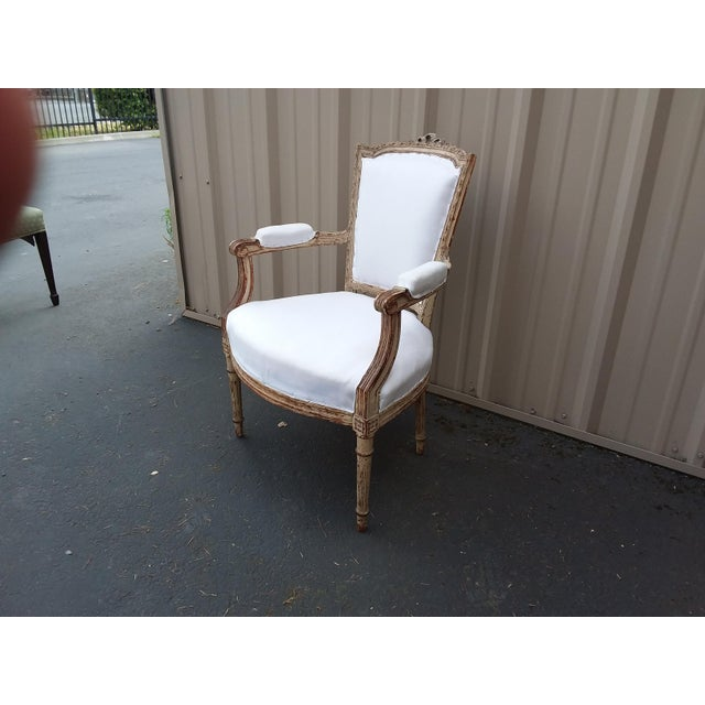 18th Century French Antique Armchair For Sale In San Antonio - Image 6 of 8