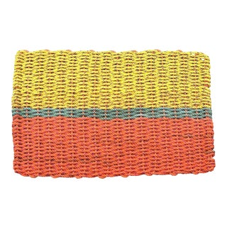 "Recycled Lobster Rope Doormat ""Peaks"" - 1'7"" x 2'10"""