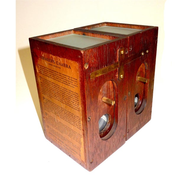 1920s Vermeers Camera. A Circa 1920s Camera Obscura Invented by Anson K. Cross. Rare Hand Made Original For Sale - Image 5 of 12