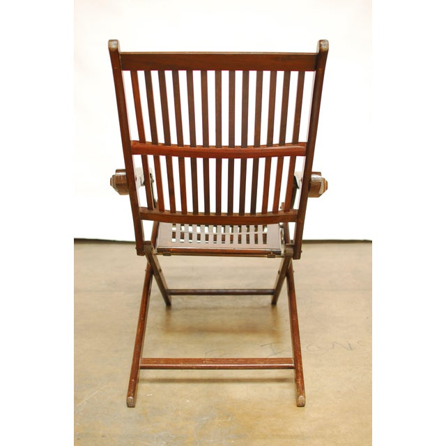 Antique Ocean Steamer Deck Chair - Image 6 of 7