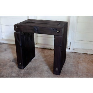Organic Modern Yakisugi Handcrafted Wood Bench Side End Table Preview