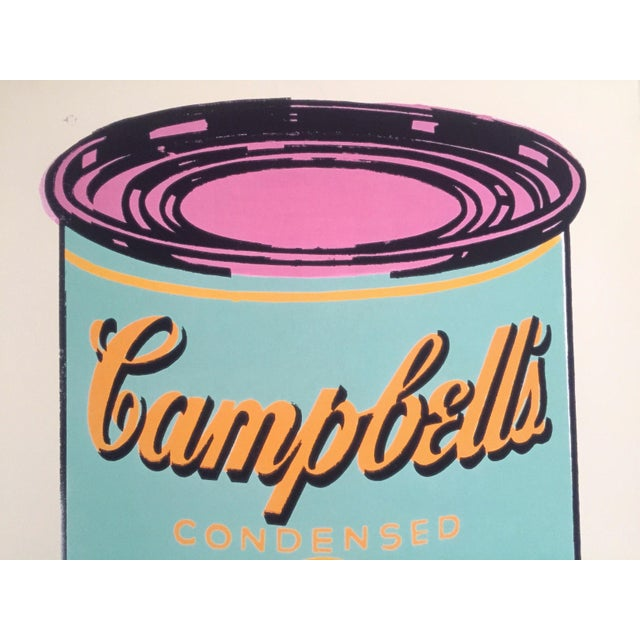 "2010s Andy Warhol Foundation Lithograph Print Pop Art Poster "" Campbell's Soup Can "" 1965 For Sale - Image 5 of 12"