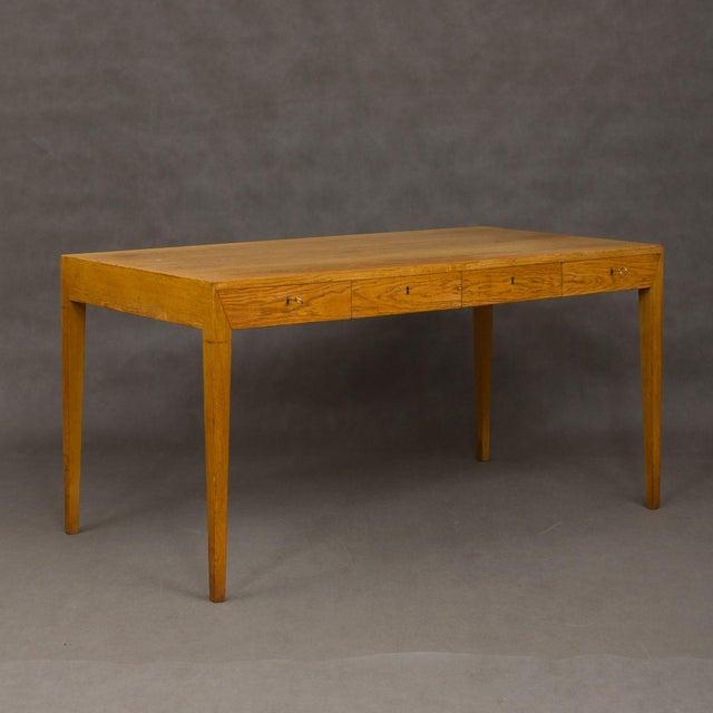 Mid-Century Modern Severin Hansen Oak Writing Desk For Sale - Image 12 of 12