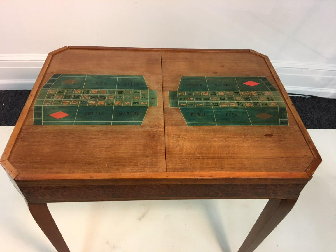 French Art Deco 1940s Marquetry Roulette Game Table Chairish