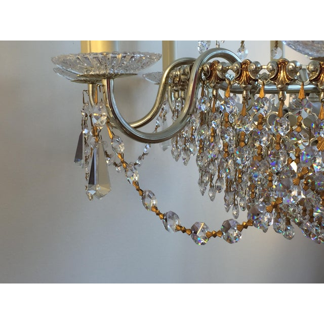 Swarovski Schonbek Swarovski Strass Crystal Chandelier For Sale - Image 4 of 7