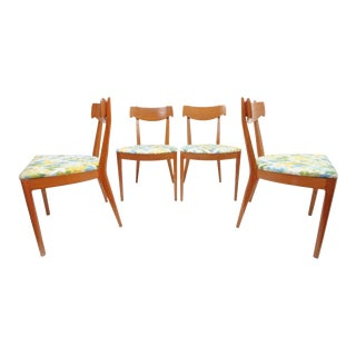 Vintage Mid Century Drexel Declaration Dining Chairs - Set of 4 For Sale