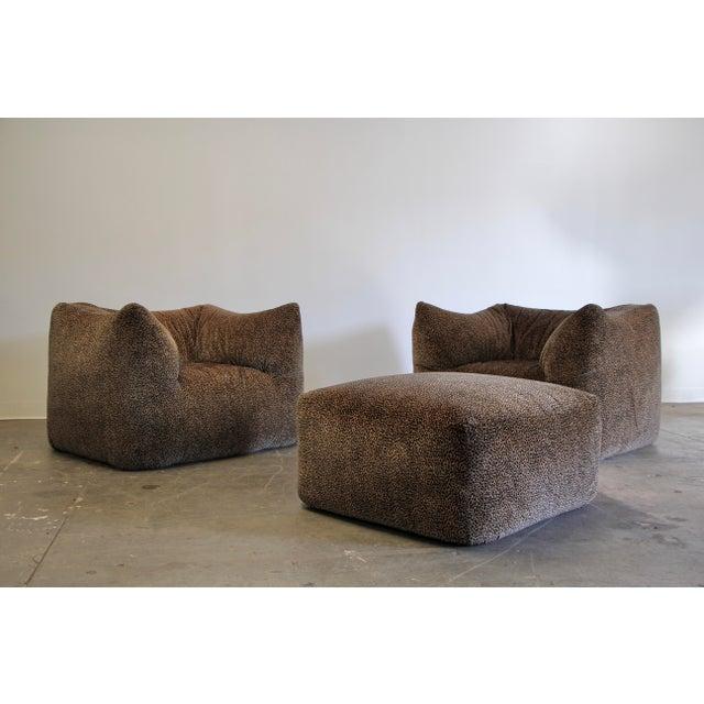 """1970s Mario Bellini """"Le Bambole"""" Chairs & Ottoman For Sale - Image 13 of 13"""