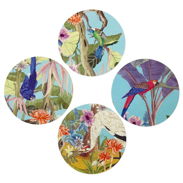 Palm Beach Paradise by Allison Cosmos Placemats - Set of 4 For Sale In Miami - Image 6 of 6