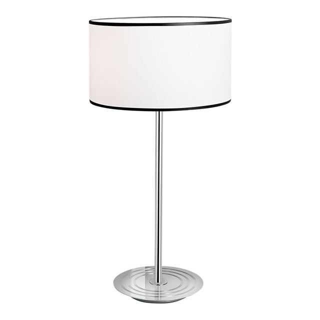 Art Deco Retro Style Polished Chrome Table Lamp For Sale