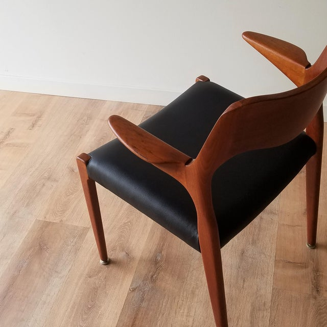 1960s Newly Upholstered Niels Moller Model 55 Dining Chair For Sale In Seattle - Image 6 of 13