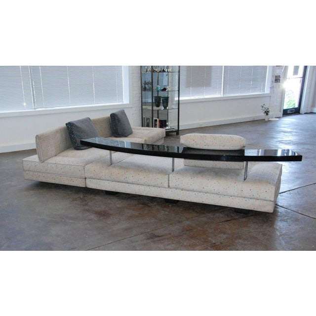 Italy 1990 The most stunning modular sofa produced with adjustable elements allowing multiple seating arrangements for...