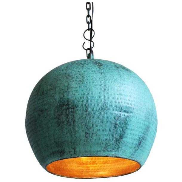 Green Copper Bola Lantern - Image 1 of 3