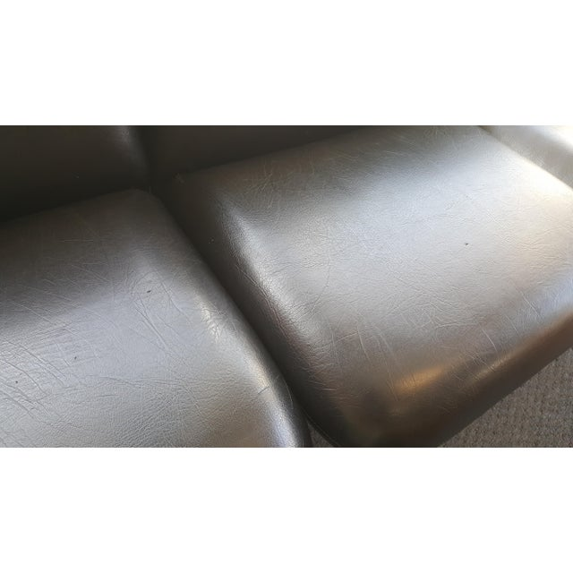 Ray Wilkes for Herman Miller Spaceage Chiclet Sofa in Black Leather - Image 8 of 11