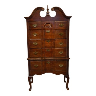 Vintage Universal Furniture Traditional Style Cherry Highboy Chest For Sale