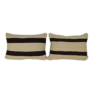 16'' X 24'' African Style Kilim Pillow Cover, Pair of Handmade Pillow Made of Turkish Oushak Rug, Set of Two Mud Cloth Cushions (40 X 60 Cm) For Sale