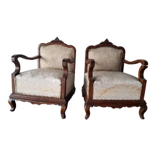 Venation Neoclassical a Pair of Chairs For Sale