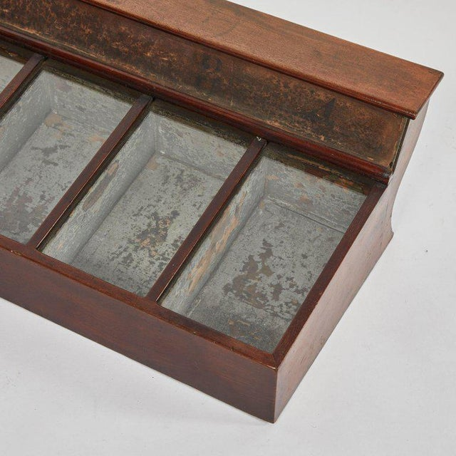 Hollywood Regency 19th Century Display Case in Mahogany For Sale - Image 3 of 5