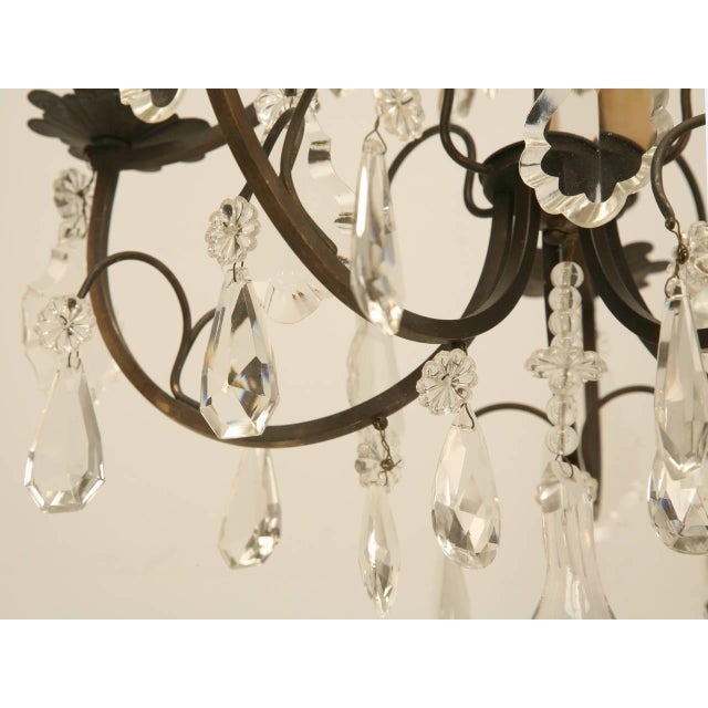French French Vintage Five-Light Bronze Chandelier For Sale - Image 3 of 10