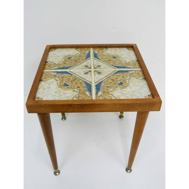 Monterey-Style Spanish Tile Side Table - Image 3 of 6